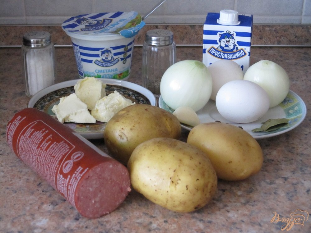 Фото приготовление рецепта: Белый суп
