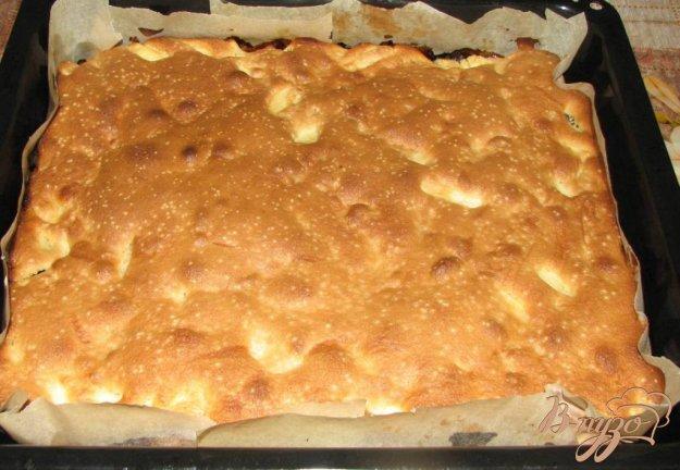 Рецепт Яблочный бисквитный пирог