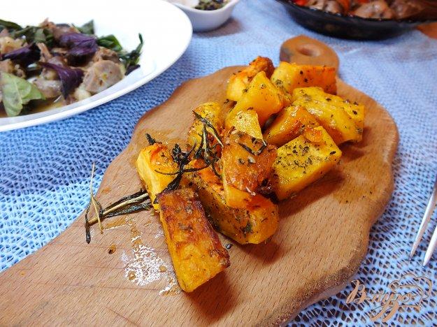 Рецепт Тыква запеченная с розмарином и оливковым маслом