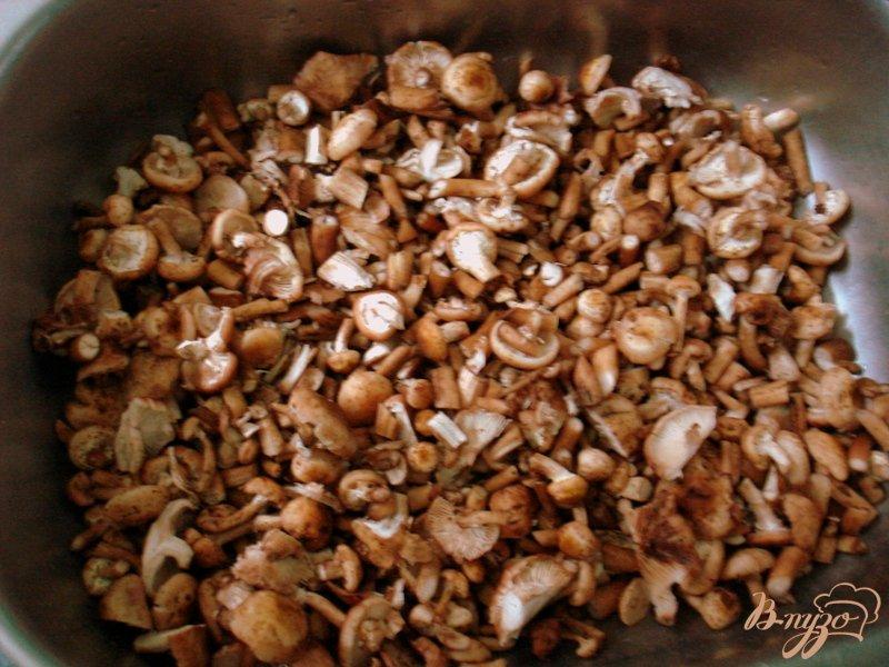 Фото приготовление рецепта: Опята со свининой в сметанном соусе шаг №2