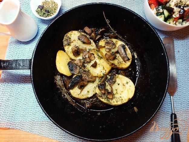 Рецепт Картофель в шкурке с грибами