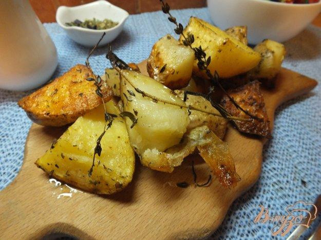 Рецепт Ломтика картофеля в кожуре со свежими травами и оливковым маслом