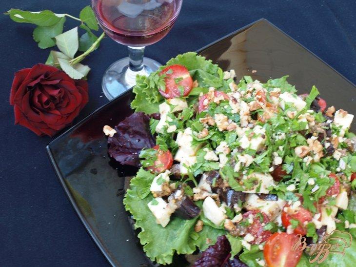 Салат из баклажан с брынзоц