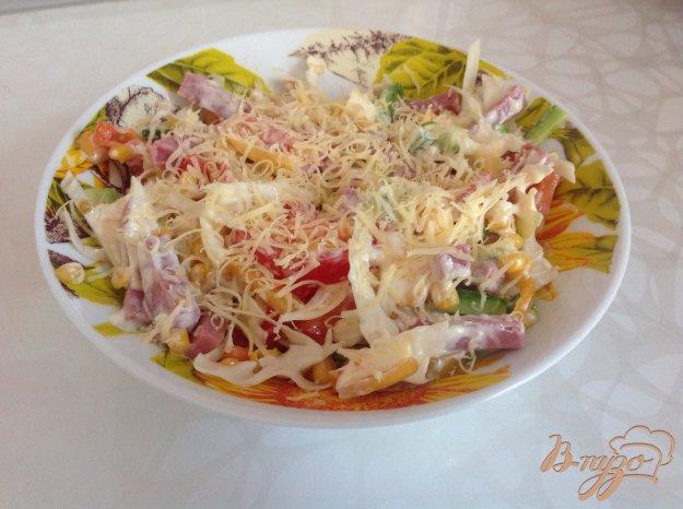 Салаты с ветчиной и капустой рецепты