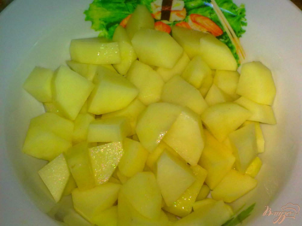 Фото приготовление рецепта: Суп со спаржевой фасолью и грибами шаг №4