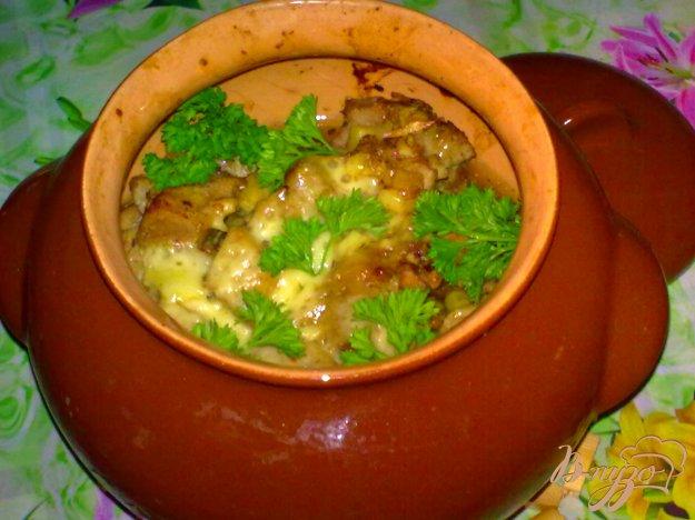 Рецепт Свинина в горшочке с баклажанами