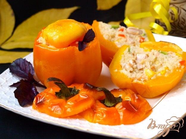 Рецепт Запечённые перцы с кус-кусом и овощами
