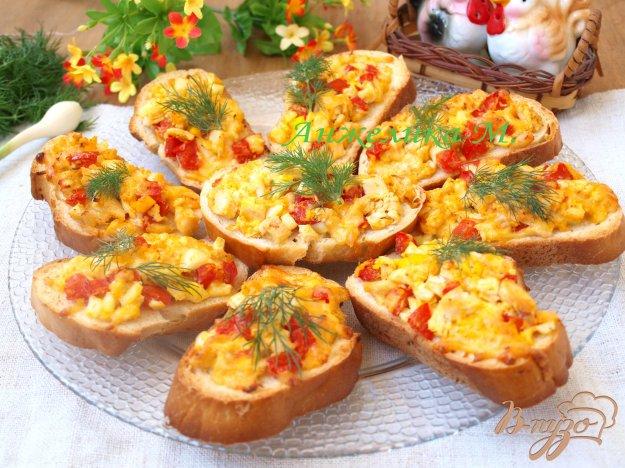 Рецепт Горячие бутерброды с курицей и помидорами