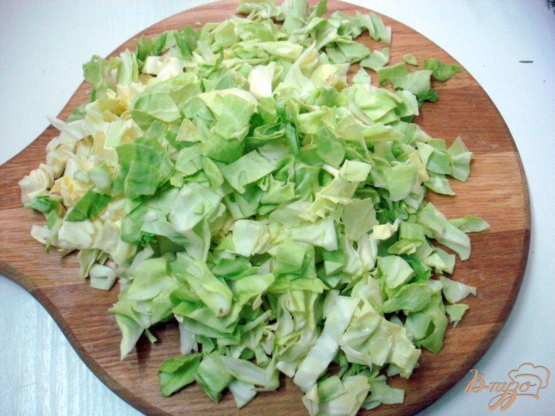 Фото приготовление рецепта: Суп из капусты с сырочками шаг №5