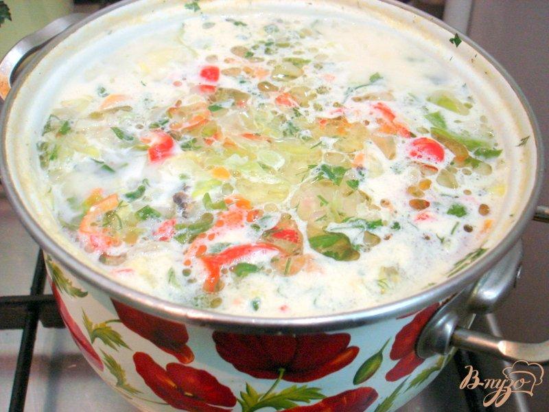 Фото приготовление рецепта: Суп из капусты с сырочками шаг №8
