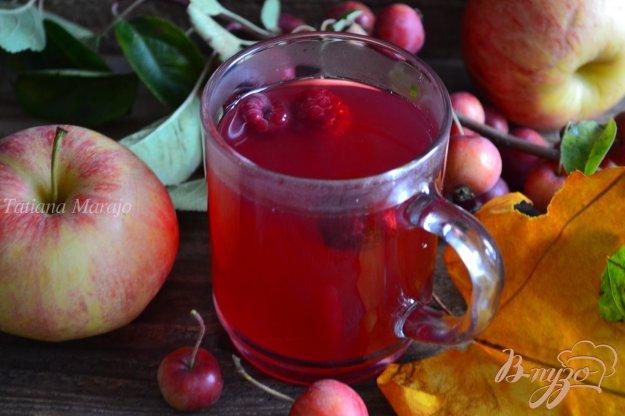 Рецепт Яблочно-малиновый компот с имбирем