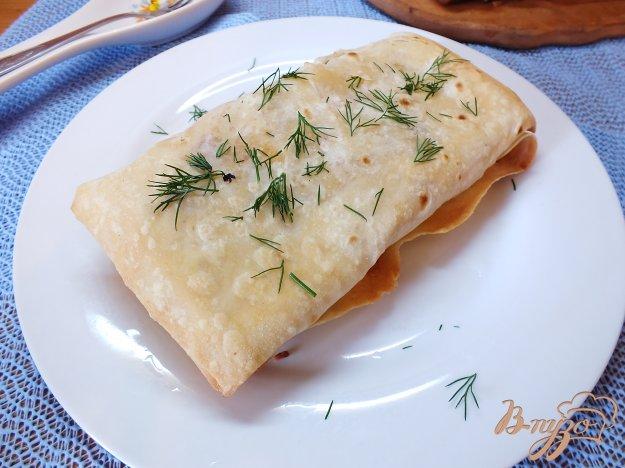 Рецепт Лаваш с овощами, курицей и сулугуни