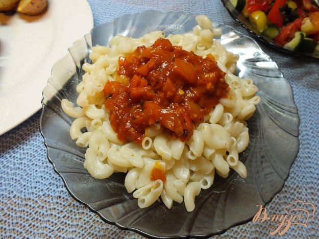 Рецепт Макароны красной чесночной подливой
