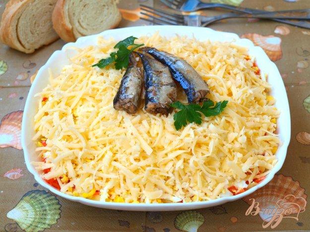 """Рецепт Салат """"Океан"""" со шпротами"""