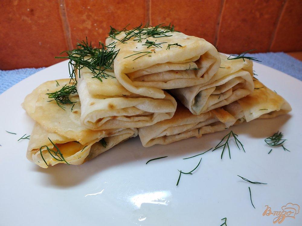 Фото приготовление рецепта: Острые закусочные лаваши шаг №8