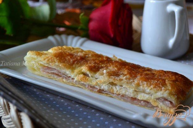 Рецепт Пирог из слоеного теста с яблочной начинкой