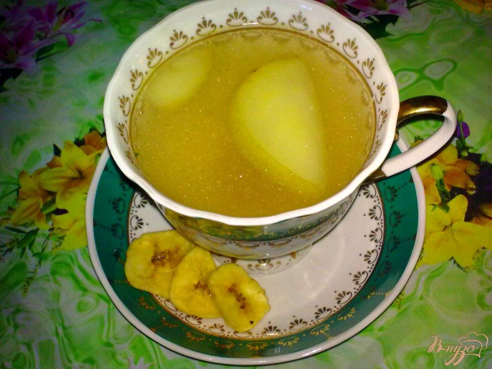 Фото приготовление рецепта: Компот яблочный с бананом и кардамоном шаг №4