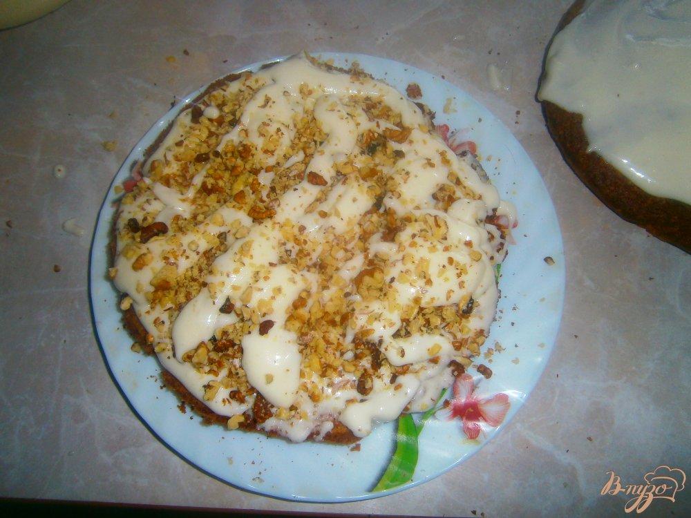 Фото приготовление рецепта: Зебра с сметанный кремом шаг №8