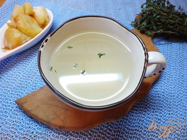 Рецепт Яблочный компот со свежим тимьяном