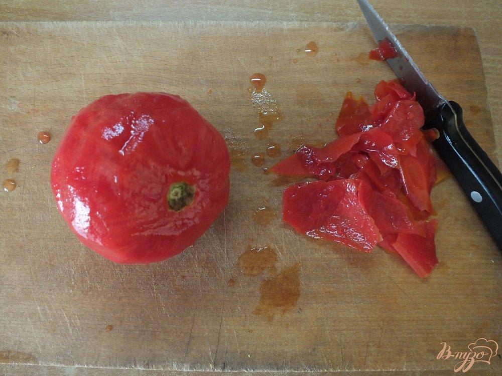 Фото приготовление рецепта: Холодный томатный суп с печеной тыквой шаг №2