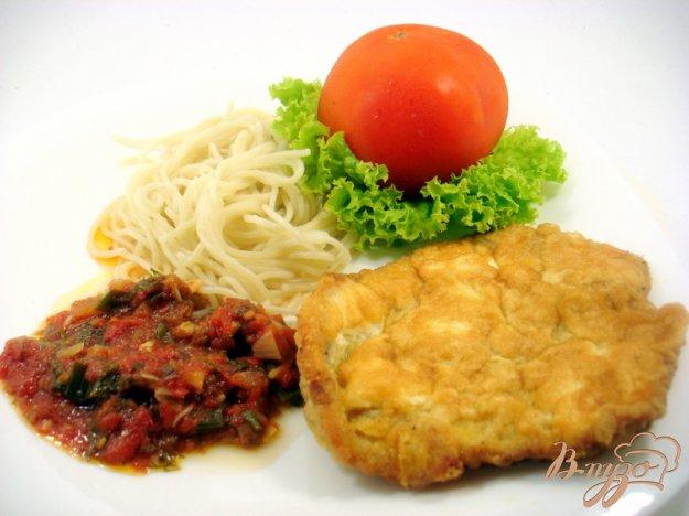 Рецепт Свиная отбивная со спагетти