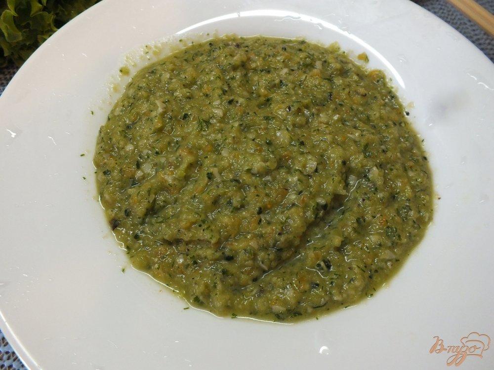 Фото приготовление рецепта: Холодный суп-пюре из печеных овощей и лаваша шаг №11