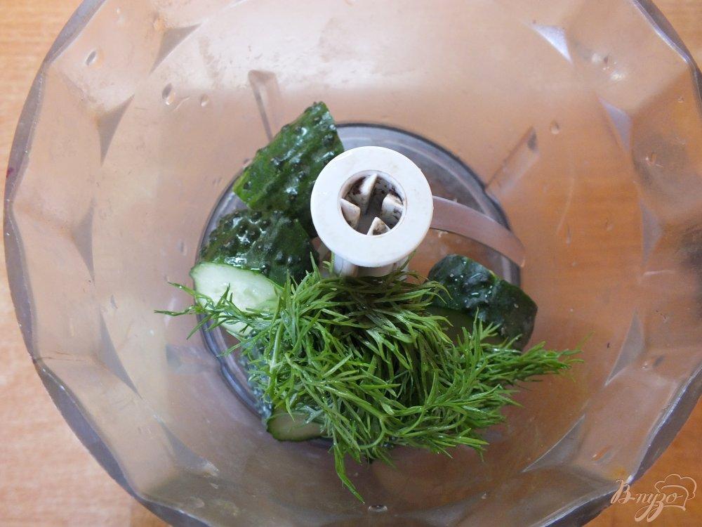 Фото приготовление рецепта: Холодный суп-пюре из печеных овощей и лаваша шаг №4