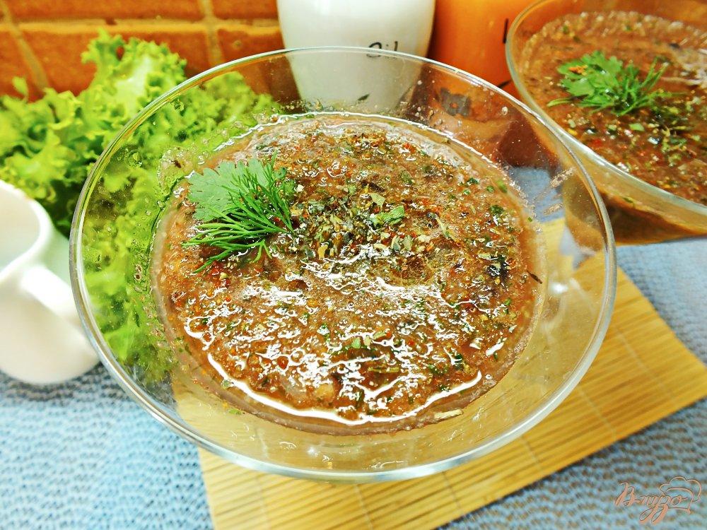 Фото приготовление рецепта: Гаспачо с соком лайма шаг №10