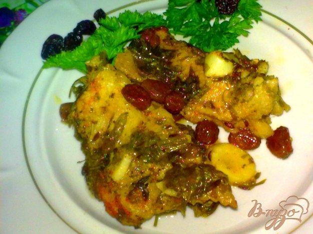 Рецепт Свинина тушеная с изюмом