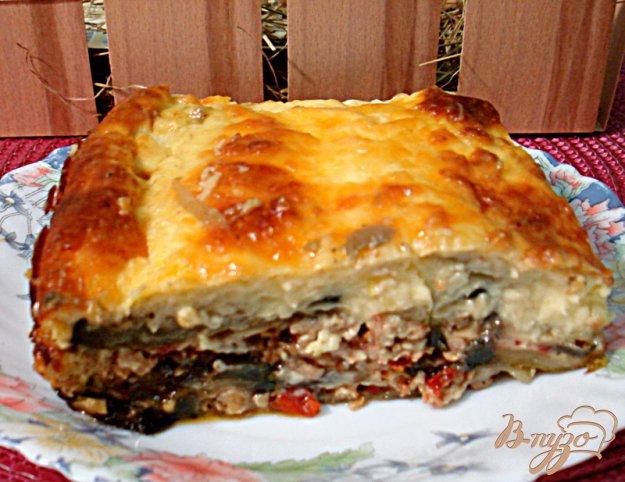 Рецепт Греческая мусака из баклажанов,кабачков и фарша