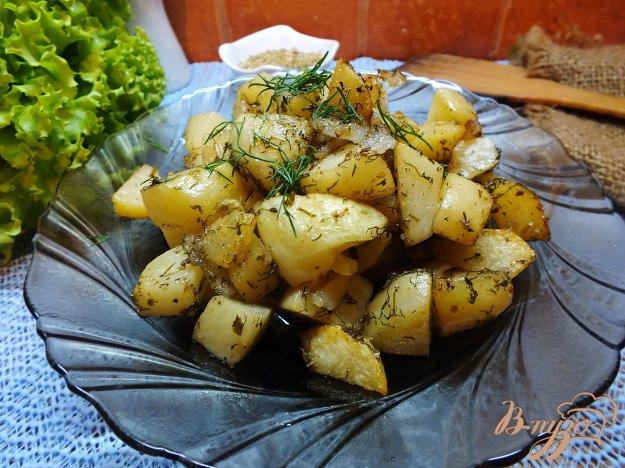 Рецепт Печенный картофель с салом и орегано