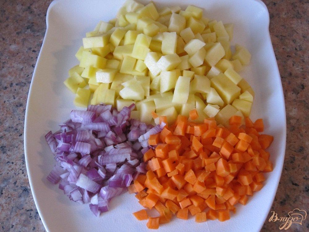 Фото приготовление рецепта: Суп-пюре с говядиной шаг №4