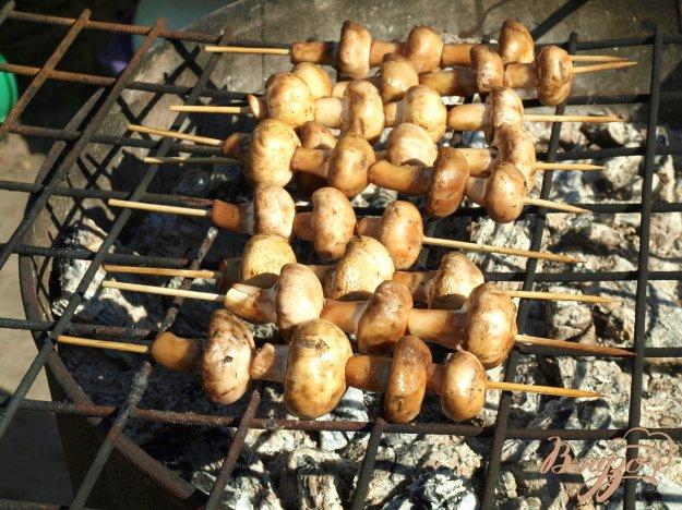 Рецепт Шампиньоны на шпажках на мангале