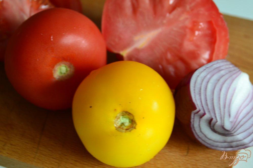 Фото приготовление рецепта: Помидорный салат с перловой крупой шаг №1