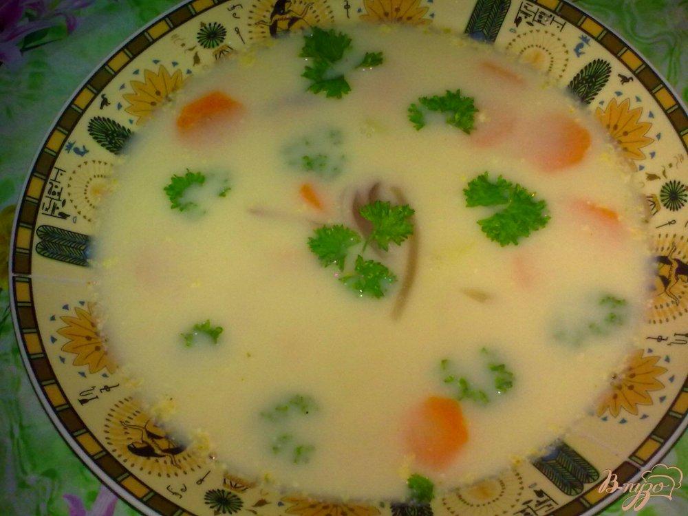 Фото приготовление рецепта: Сырный суп шаг №9