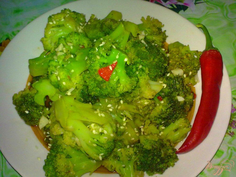Фото приготовление рецепта: Брокколи в остром соусе шаг №6