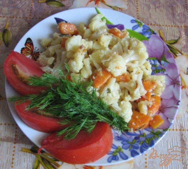 Рецепт Цветная капуста тушеная с картошкой и морковью