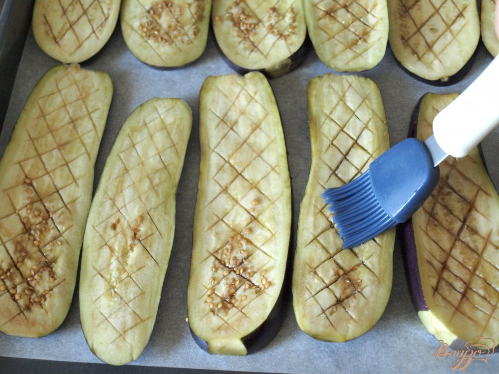 Фото приготовление рецепта: Баклажаны по-сассарезски шаг №3