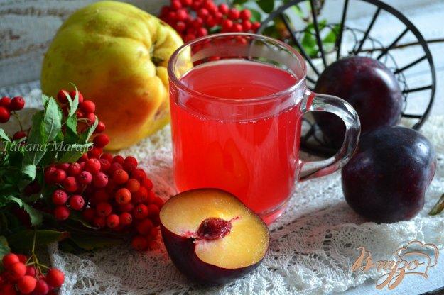 Рецепт Сливово-айвовый компот с кардамоном
