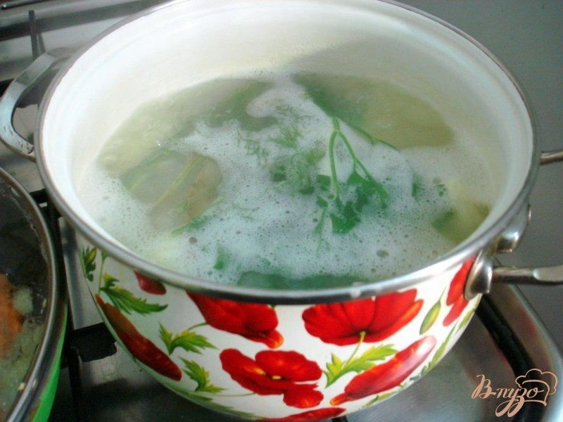 Фото приготовление рецепта: Печёночное суфле на картофельной подушке шаг №3
