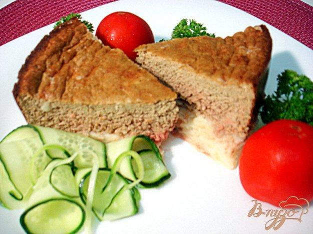Рецепт Печёночное суфле на картофельной подушке