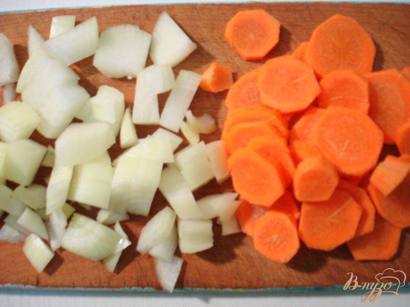 Фото приготовление рецепта: Печёночное суфле на картофельной подушке шаг №1
