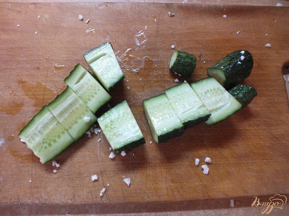 Фото приготовление рецепта: Крем-суп из огурца и цветной капусты шаг №6
