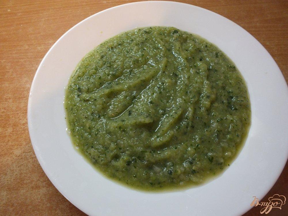 Фото приготовление рецепта: Крем-суп из огурца и цветной капусты шаг №11
