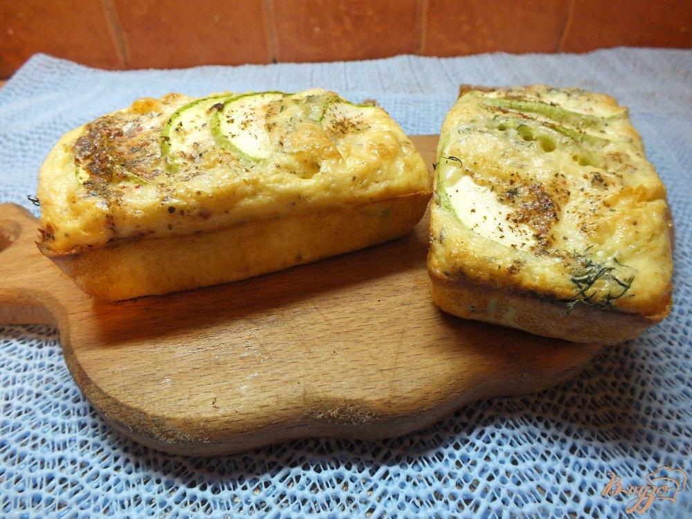 Фото приготовление рецепта: Творожная фритата с кабачком шаг №10