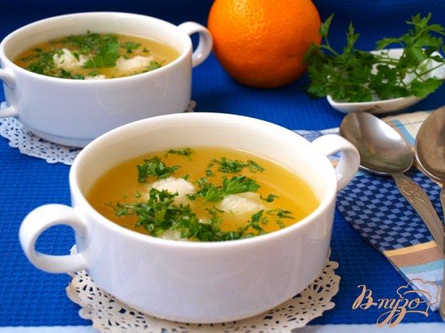 Рецепт Апельсиновый суп с рисовыми шариками