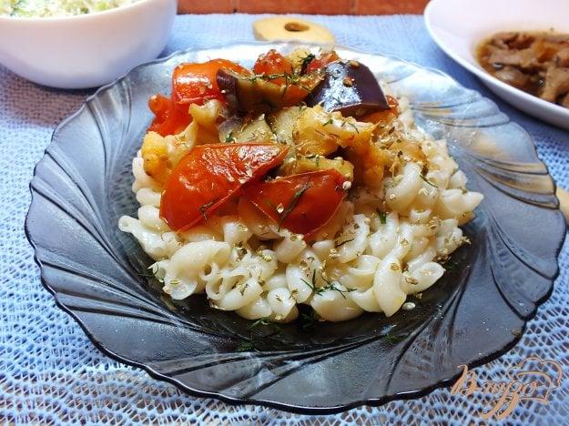 Рецепт Макароны с печеными овощами