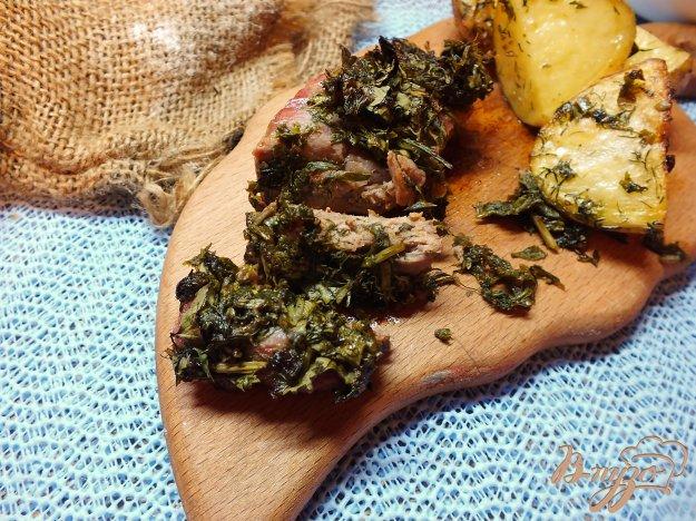 Рецепт Мясо под шубой из зелени