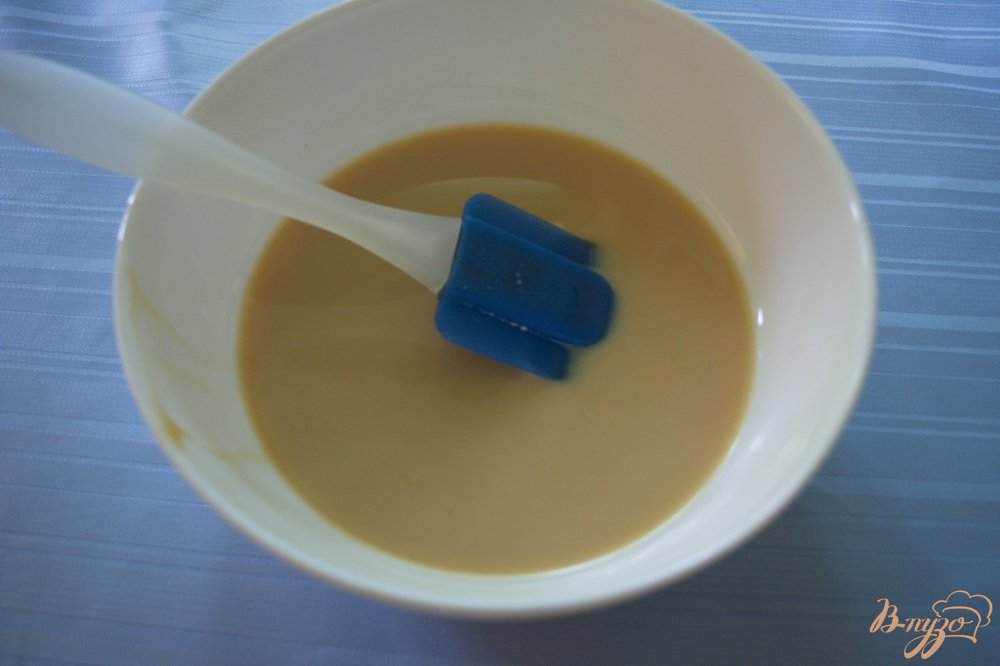 Фото приготовление рецепта: Карамельный торт с шоколадным кремом шаг №4