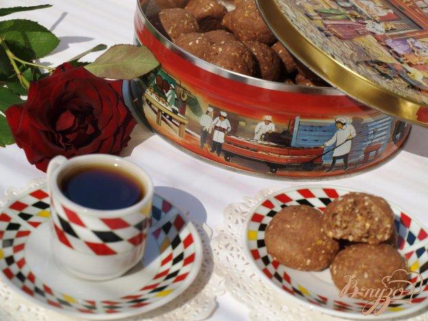 Рецепт Шоколадное печенье с кукурузной крупой и кунжутом